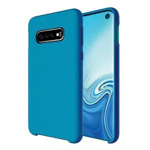 Premium Liquid Silicon Samsung S21 Ultra Case Cover Hülle Blau