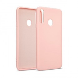 Premium Liquid Silicon Samsung S21 Ultra Case Cover Hülle rose gold