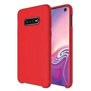 Premium Liquid Silicon Samsung S21 Case Cover Hülle rot