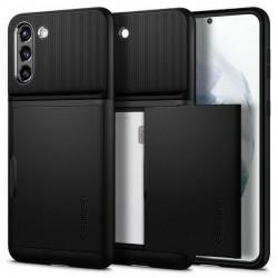 Spigen Samsung S21+ Plus Slim Armor CS Schwarz Case Cover Hülle
