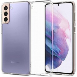Spigen Samsung S21+ Plus Hülle Case Cover Liquid Crystal transparent