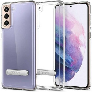 Spigen Samsung S21+ Plus Hybrid S Hülle / Case / Cover Crystal Clear Kickstand / Fuß