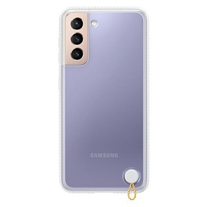 Original Samsung EF-GG991CW S21 G991 weiß Clear Protective Cover