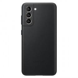 Original Samsung EF-VG991LB S21 G991 schwarz Leder Cover