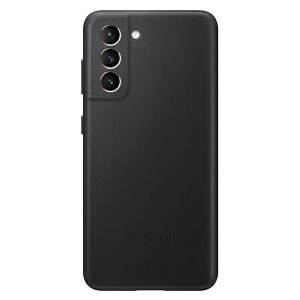 Original Samsung EF-VG996LB S21+ G996 schwarz Leder Cover