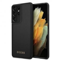 GUESS Samsung S21 Ultra Hülle / Case Iridescent Schwarz GUHCS21LIGLBK