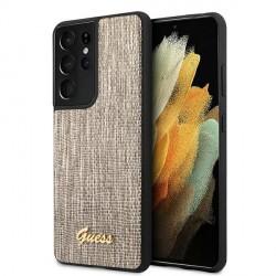 GUESS Samsung S21 Ultra Schutzhülle / Cover / Case Lizard / Eidechse Gold