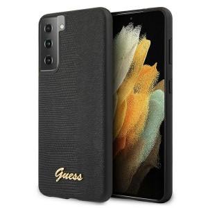 GUESS Samsung S21+ Plus Hülle / Case Lizard Schwarz GUHCS21MPCUMLLIBK
