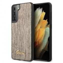 GUESS Samsung S21+ Plus Hülle / Case Lizard Gold GUHCS21MPCUMLLIGO