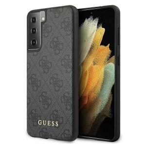 GUESS Samsung S21 Schutzhülle / Cover / Case 4G Stripe Grau