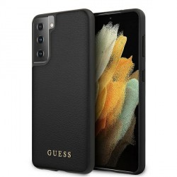 GUESS Samsung S21 Hülle / Case Iridescent Schwarz GUHCS21SIGLBK