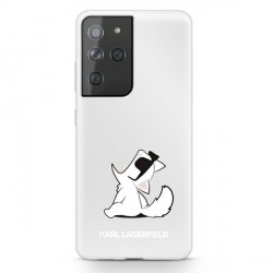 Karl Lagerfeld Samsung S21 Ultra Hülle Choupette Fun Transparent KLHCS21LCFNRC