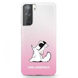 Karl Lagerfeld Samsung S21+ Plus Hülle Choupette Fun Pink KLHCS21MCFNRCPI