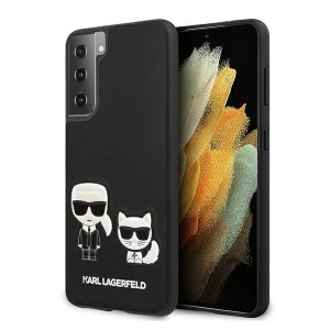 Karl Lagerfeld Samsung S21+ Plus Hülle Karl & Choupette Schwarz KLHCS21MPCUSKCBK