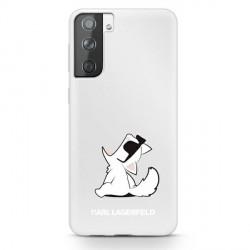 Karl Lagerfeld Samsung S21 Hülle Choupette Fun Transparent KLHCS21SCFNRC