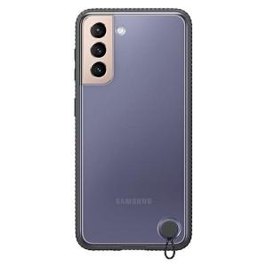 Original Samsung EF-GG991CB S21 G991 schwarz Clear Protective Cover