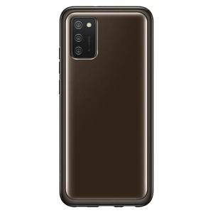 Original Samsung EF-QA026TB A02s Clear Cover schwarz