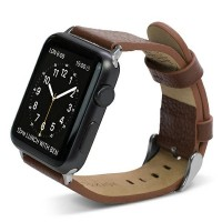 X-Doria Lux Echtleder Armband Apple Watch 38mm Braun