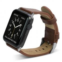 X-Doria Lux Echtleder Armband Apple Watch 38mm Braun