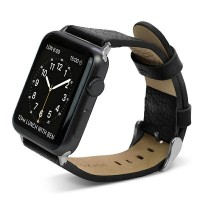 X-Doria Lux Echtleder Armband Apple Watch 38mm schwarz