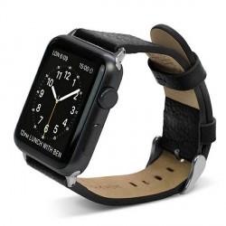 X-Doria Lux Echtleder Armband Apple Watch 38mm schwarz