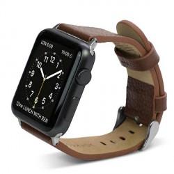 X-Doria Lux Echtleder Armband Apple Watch 42mm braun