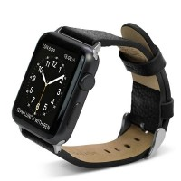 X-Doria Lux Echtleder Armband Apple Watch 42mm schwarz