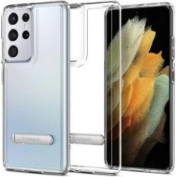 Spigen Samsung S21 Ultra Hybrid S Hülle / Case / Cover Crystal Clear Kickstand / Fuß