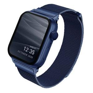 UNIQ Watch Armband Dante Apple 4 / 5 / 6 / SE 40mm Edelstahl Blau