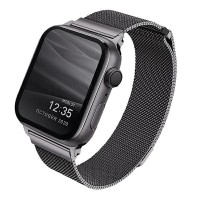 UNIQ Watch Armband Dante Apple 4 / 5 / 6 / SE 44mm Edelstahl graphite