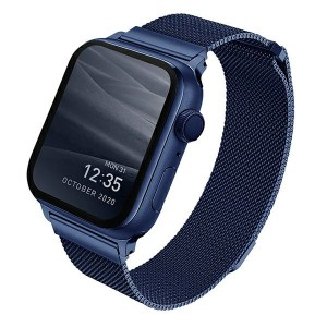 UNIQ Watch Armband Dante Apple 4 / 5 / 6 / SE 44mm Edelstahl blau