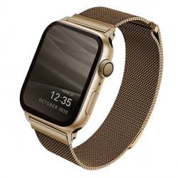 UNIQ Watch Armband Dante Apple 4 / 5 / 6 / SE 44mm Edelstahl carmel gold