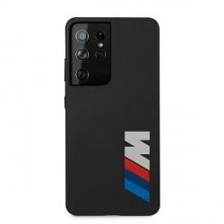 BMW Samsung S21 Ultra Silikon M Big Logo Schutzhülle Schwarz