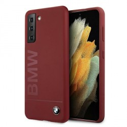 BMW Samsung S21+ Plus Silikon Signature Logo Hülle / Cover / Case Rot BMHCS21MSLBLRE