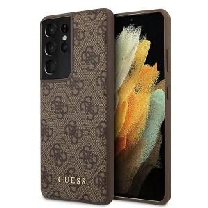GUESS Samsung S21 Ultra 4G Stripe Schutzhülle / Cover / Case Braun