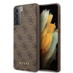 GUESS Samsung S21+ Plus 4G Stripe Schutzhülle / Cover / Case Braun