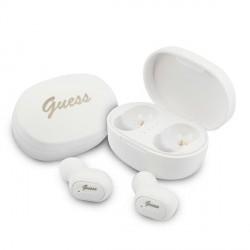 GUESS Bluetooth Kopfhörer TWS + Ladestation / Dockingstation weiß GUTWST30WH