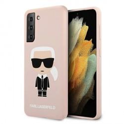 Karl Lagerfeld Samsung S21+ Plus Hülle Silikon Iconic Rose / Pink KLHCS21MSLFKPI
