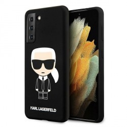 Karl Lagerfeld Samsung s21 Hülle Silikon Iconic schwarz KLHCS21SSLFKBK