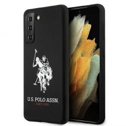 US Polo Samsung S21+ Plus Silikon Logo Hülle schwarz USHCS21MSLHRBK