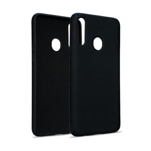 Premium Liquid Silicon Samsung A52 5G Case Cover Hülle schwarz