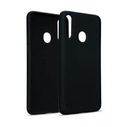 Premium Liquid Silicon Samsung A72 5G Case Cover Hülle schwarz