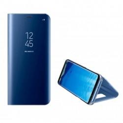 Clear View Samsung A52 Handytasche blau