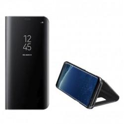 Clear View Samsung A72 Handytasche schwarz