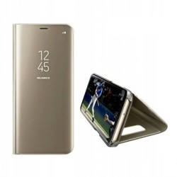 Clear View Samsung A72 Handytasche gold
