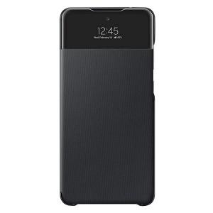 Original Samsung EF-EA725PB A72 A725 S View Wallet Cover schwarz