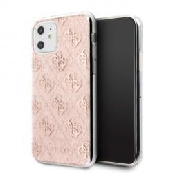 Guess iPhone 11 Hülle Case cover 4G Glitter rose / pink GUHCN61PCU4GLPI