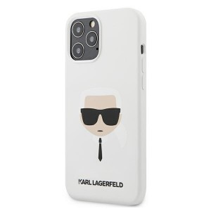 Karl Lagerfeld iPhone 12 Pro Max Case / Hülle / Cover Silikon Head Weiß KLHCP12LSLKHWH