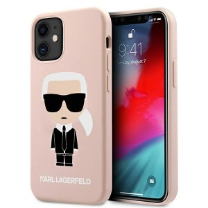 Karl Lagerfeld iPhone 12 mini Hülle / Case / Cover Silicone Iconic rose KLHCP12SSLFKPI