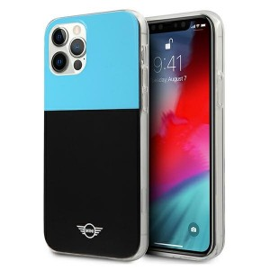 Mini iPhone 12 Pro Max Hülle / Case / Cover Block Schwarz / Blau MIHCP12LPCUCBLB